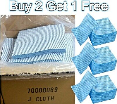 100 All Purpose J Cloth Hygienic Cleaning Cloths Large J Type Kitchen Catering