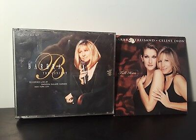 Lot of 2 Barbra Streisand CDs: The Concert, Tell Him with Celine Dion