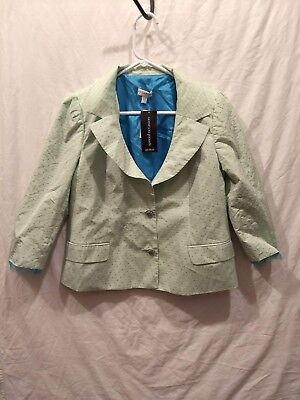 A Pea In The Pod Maternity light green Jacket Women's Size M medium NWT