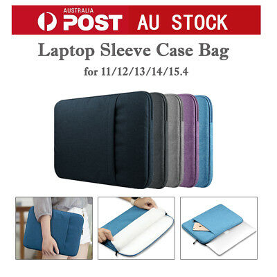 "Laptop Sleeve Case Carry Bag for MacBook Microsoft HP 11""12""13""14""15""Case Bag AU"