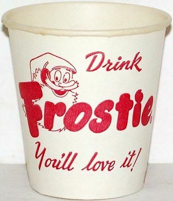Vintage paper cup FROSTIE root beer elf picture 3oz unused new old stock n-mint+