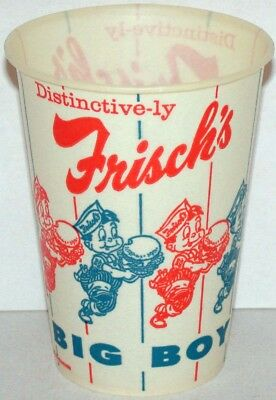Vintage paper cup FRISCHS BIG BOY with boy pic 1965 unused new old stock n-mint+