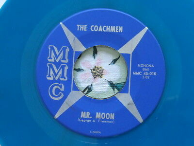 THE COACHMEN - Blue Vinyl - Mr. Moon / Nothing At All - Garage - NM-