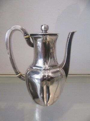 19th c french sterling silver minerve 950 coffee pot for two Odiot 245g