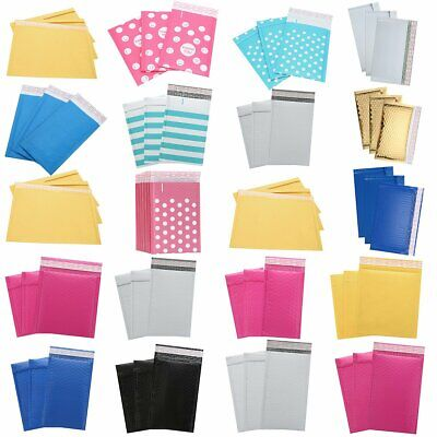 Wholesale 25/50 Pcs Poly Bubble Mailers Padded Envelopes Shipping Bags Self Seal