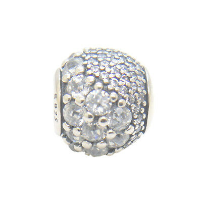 NEW Authentic Sterling Silver Bead Enchanted Pave Clear CZ Charms Spring 2018
