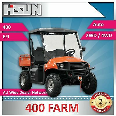 New Hisun 400 Classic Utility Vehicle 400cc F-N-R 2/4WD, Winch, Roof & W-Screen