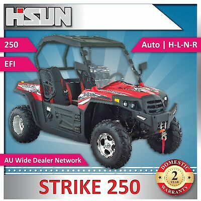 New Hisun 250 Strike Utility Vehicle includes Windscreen, Roof and Alloy Wheels