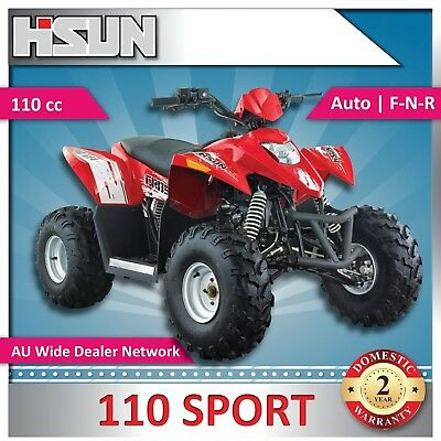 New Hisun S110 Sport Quad Bike 110cc F-N-R Rear Wheel Drive - Air Cooled