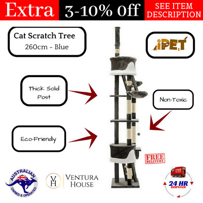 iPet Large Cat Scratching Board Tower Pole Pet House  Kitten Scratcher Furniture