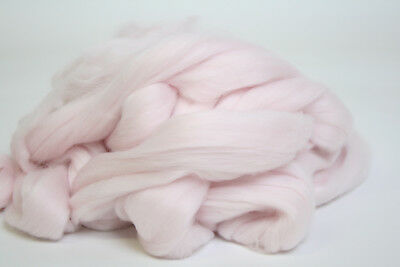 100g Fine Coloured Merino Wool 19.5mic top roving spinning felting Pink Lace