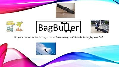BagButter - Snowboard and Ski Bag Fold Away 3rd and 4th Wheel System