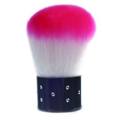 Pink White Dust Remover Brush for Nail Art or Cosmetic Face Brush Make Up M R0F3