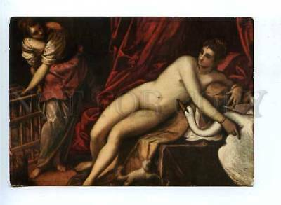 179569 FIRENZE Leda with the swan old postcard