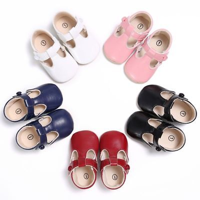 Baby Boys Girls Soft Sole Crib Shoes PU Leather Newborn Sneaker Prewalker 0-18M