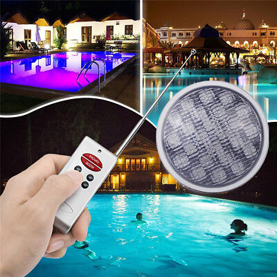 LED RGB Underwater Swimming Pool Bright Light Lamp +Remote Control IP68 16 Color