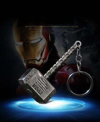 The Inferno Thor God Hammer Wire Lighter- No Gas, Wind&Water proof, Rechargeable
