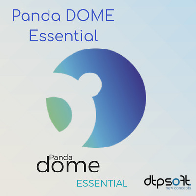 Panda Dome Essential 1 Device 1 PC 1 Year Antivirus Pro PC MAC 1 user UK