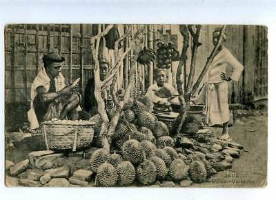 203093 INDONESIA JAVA Durian seller Vintage postcard
