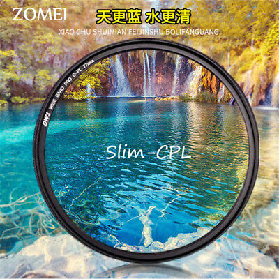 67mm 72mm 77mm 82mm ZOMEI Ultra Slim CPL Lens Filter for DSLR Camera Canon Nikon