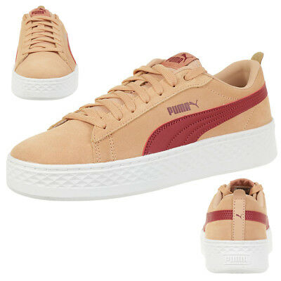 PUMA SMASH PLATFORM SD leather Sneaker Damen Schuhe 366488