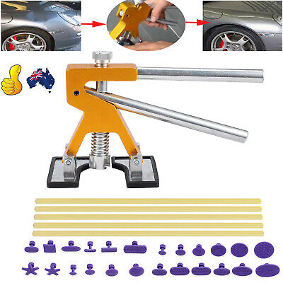 Car PDR Paintless Dent Removal Tool Pulling Bridge Hail Body Repair Kit 24 tabs