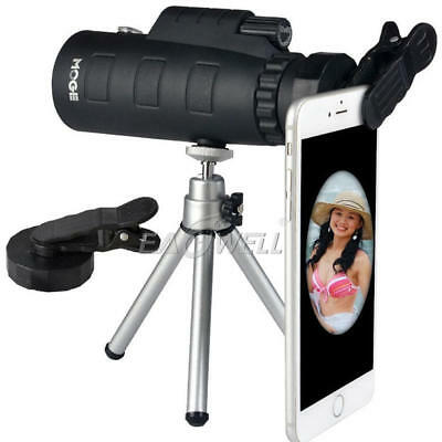 50X60 Zoom Optical Lens Monocular Telescope + Clip + Tripod For Mobile Phone New