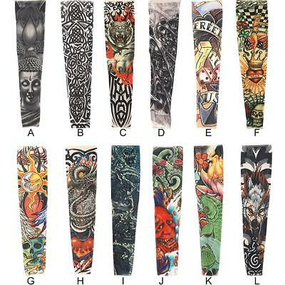 1 Pair Fashion Arm Tattoo Cover Anti-UV Sun Protection Sleeves For Ridding Sport