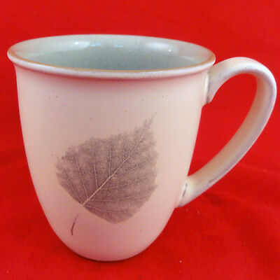 "ENERGY LEAF by Denby Mug 4"" tall NEW NEVER USED made in England"