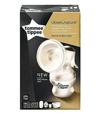 1!1i  Tommee Tippee Closer To Nature Manual Breast Pump Breastmilk Breastfeed
