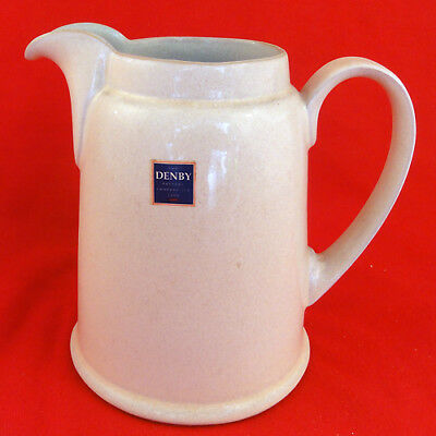 "ENERGY WHITE by Denby Jug 7"" tall Large NEW NEVER USED made in England"