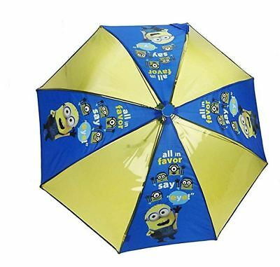 Kids Boys Girls Minion Despicable Me Transparent Yellow Character Umbrella