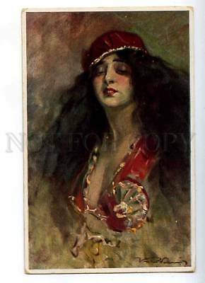 187053 BELLY DANCER Long Hair by Kiss REZSO Vintage PC
