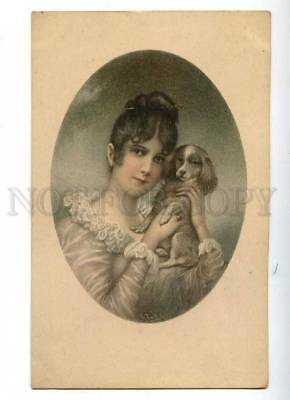 187941 Lady KING CHARLES SPANIEL by WICHERA Vintage Vienne PC
