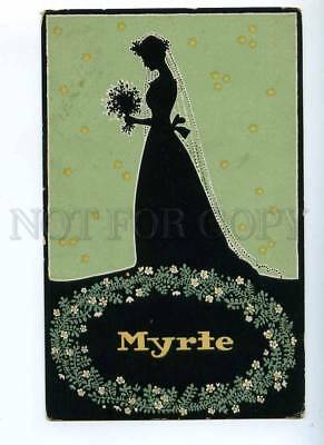 189482 Spring MYRTE Wedding Vintage ART NOUVEAU Silhouette PC