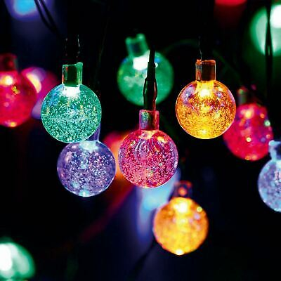 UK Solar Powered Retro Bulb String Lights For Garden Outdoor Fairy Summer Lamp