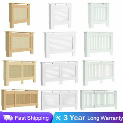 Oxford Radiator Cover White Traditional MDF Wood Cabinet Grill Furniture Sizes A