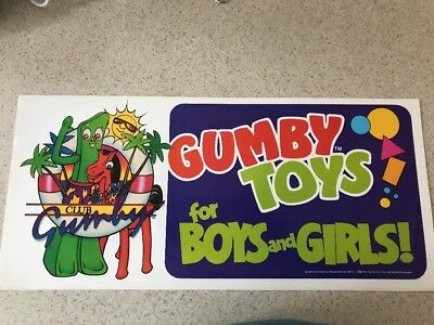 RARE GUMBY TOYS FOR BOYS & GIRLS Store Display. 1988