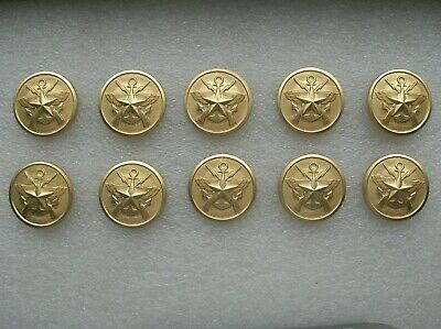 07's series China PLA Army,Navy,Air Force General Metal Buttons,10 Pcs,22mm