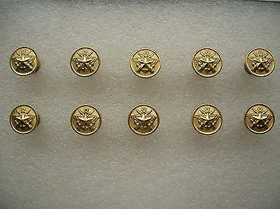 07's series China PLA Army,Navy,Air Force General Metal Buttons,10 Pcs,15mm,B