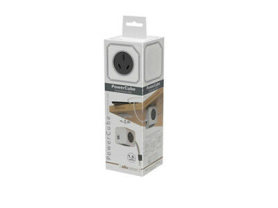 Allocacoc PowerCube 1.5m with 4 Power Outlets & 2 USB - Grey *Express Delivery*