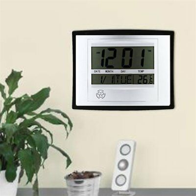 TS-H129Y Digital LCD Home Office Decor Wall Clock Indoor Temperature SY