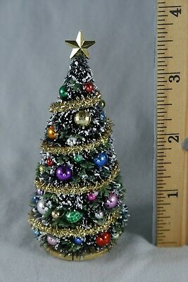 """Dollhouse Miniature 1:24 CHRISTMAS TREE  <4"""" tall 1/2"""" scale handcrafted village"""