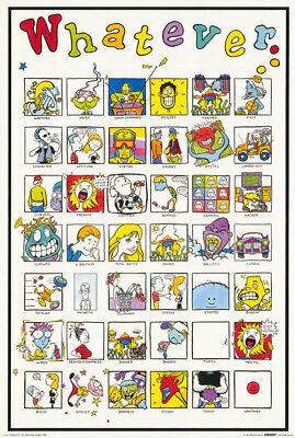 COMICAL POSTER TINY DAMAGED NOTIONS FREE SHIPPING #TDN01  LW21 Q