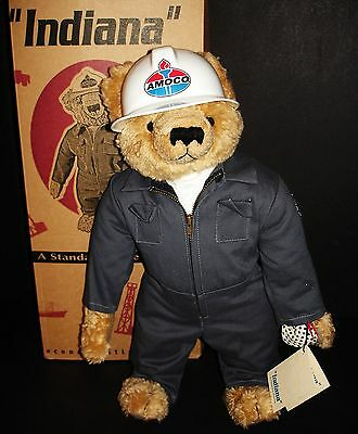 """INDIANA"" FULLY JOINTED TEDDY BEAR 1999 AMOCO OIL PROMO by MONKEY ISLAND BEARS"
