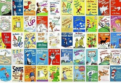 Lot of 5 Dr. Seuss Children Kids Learn to I CAN Read Books CAT HAT MIX UNSORTED