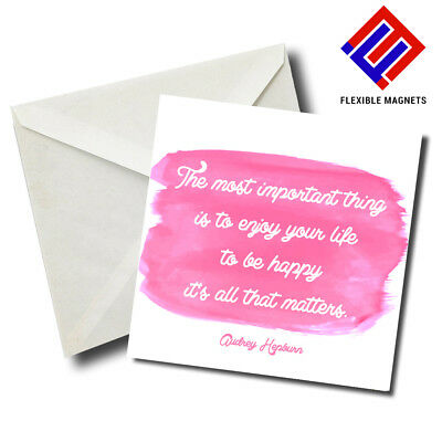 Audrey Hepburn Inspirational Quote Magnet for refrigerator. Great Gift