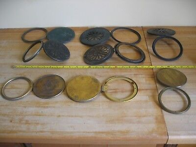 Collection 8 Mantle Clock Brass Rear Bezel Back Doors - Spares Repair - Job Lot