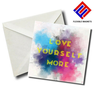 Love Yourself More Inspirational Quote Magnet for refrigerator. Great Gift