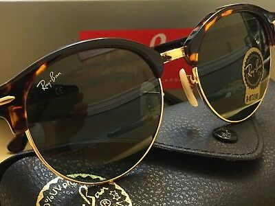6f77c64491711 Ray-Ban Clubround Classic Sunglasses RB4246 990 Tortoise Green G-15 Lens 51